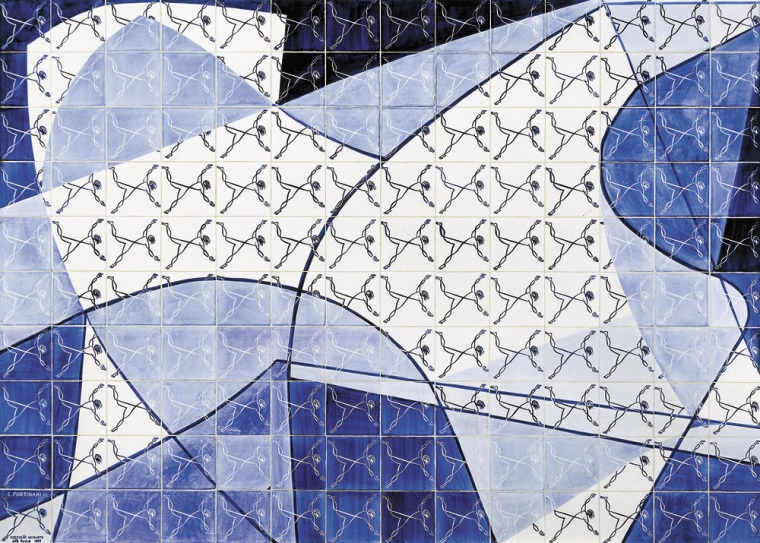Candido Portinaris tile panel (1955) (Portinari Project Archive, all rights reserved)