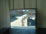 From inside the Museum of Contemporary Art in Denver
